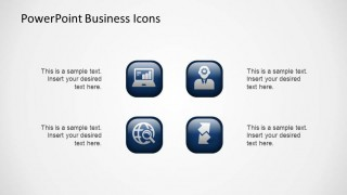 Business PowerPoint Icons with 3D Fake Effect