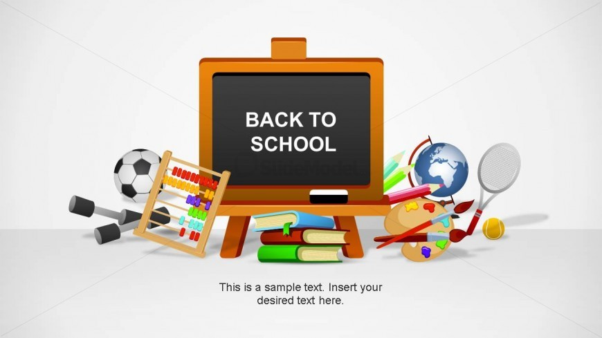 Back To Schools Template with PowerPoint Shapes
