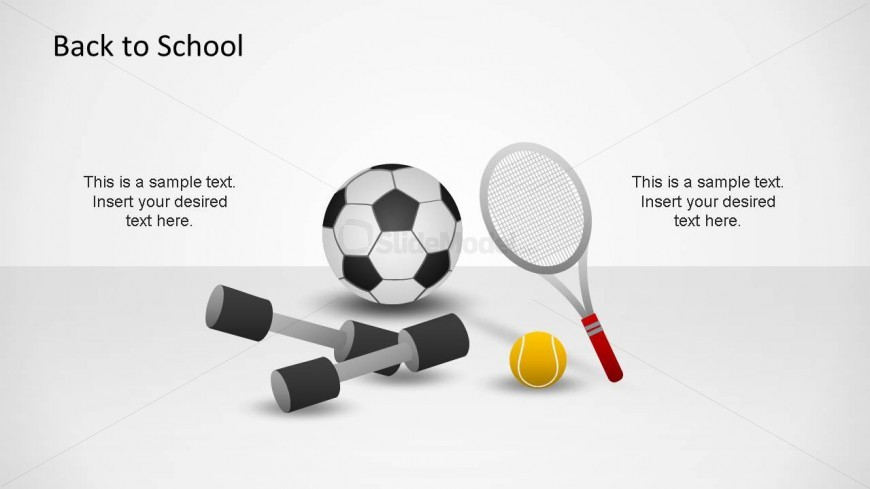 Back To School Sports Accessories created as PowerPoint Shapes