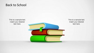 Modern and Professional Flat PowerPoint Books Shapes for Back To School Theme.