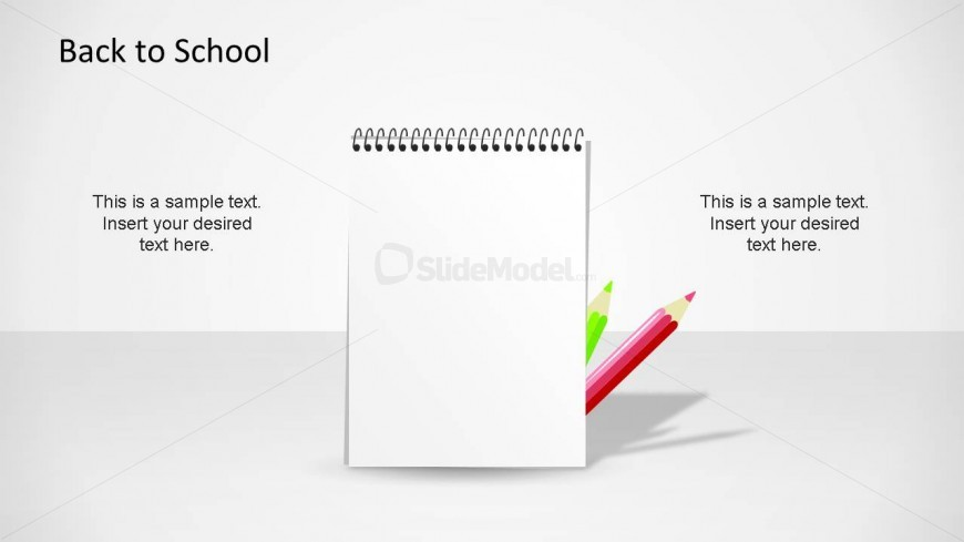 Professional PowerPoint Shape of a Notepad.
