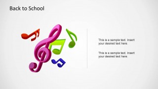 Impressive music symbols created as PowerPoint Shapes.