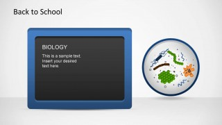 Biology virus and Bacteria PowerPoint shapes