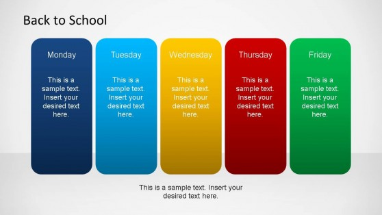 Back To School Daily Schedule PowerPoint Slide