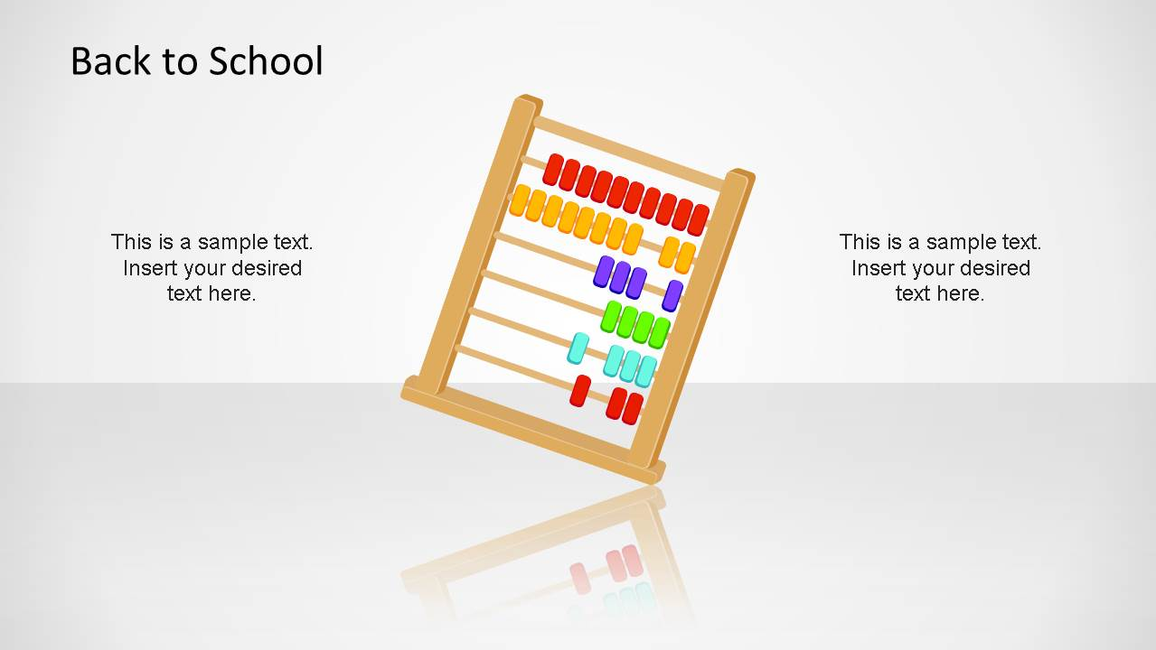 Creative Abacus PowerPoint Shape for Back To School Presentation