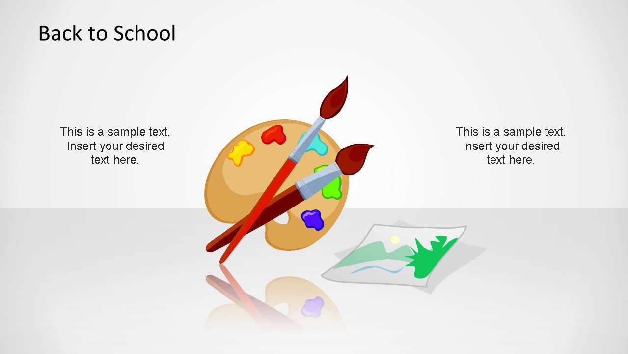 Palette PowerPoint Shape for Art Course School Theme