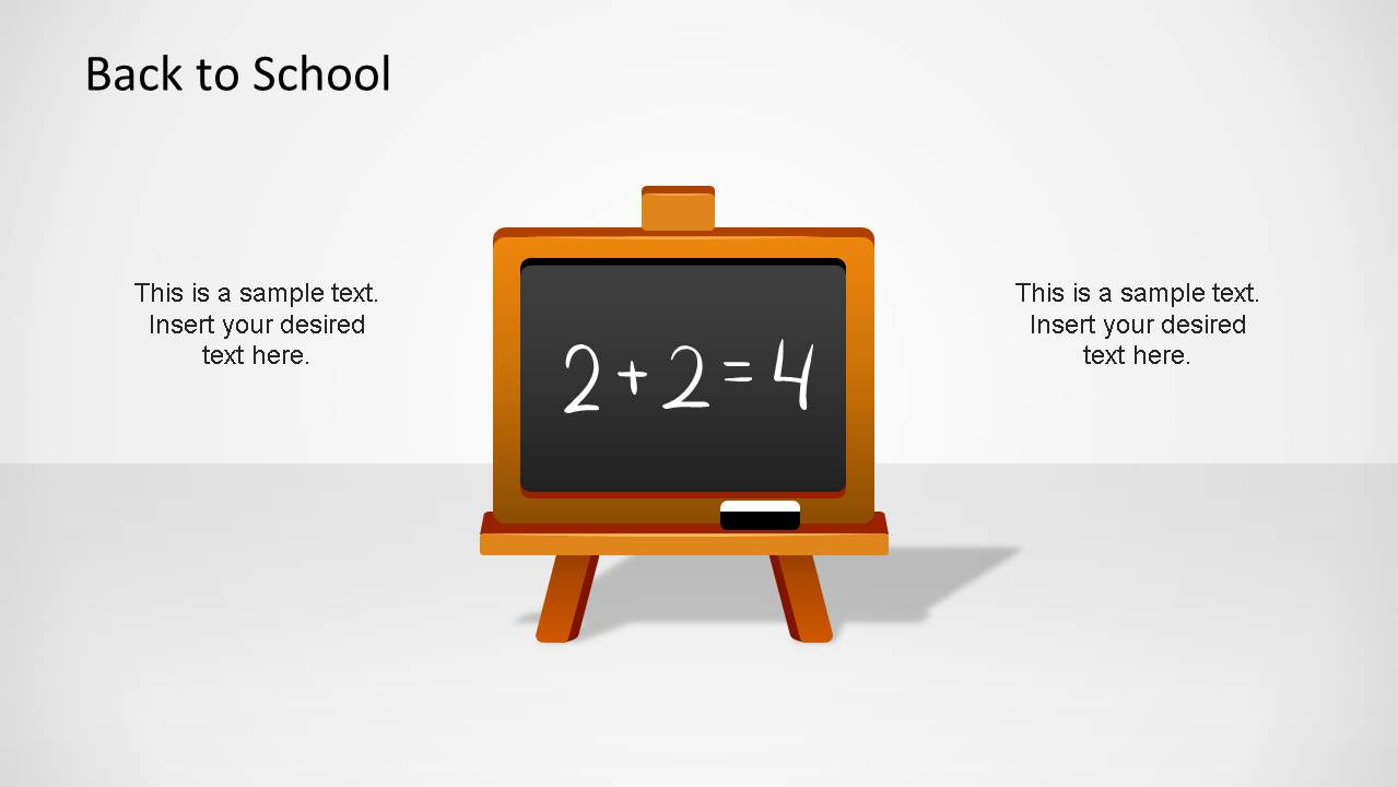 Creative Blackboard with addition for Back To School