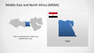 Middle East & North Africa Map Template for PowerPoint