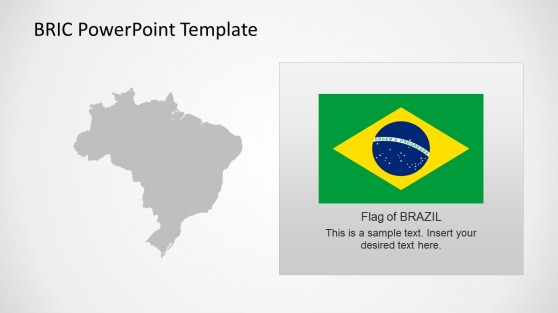 Editable Brazil Map Template for PowerPoint BRIC