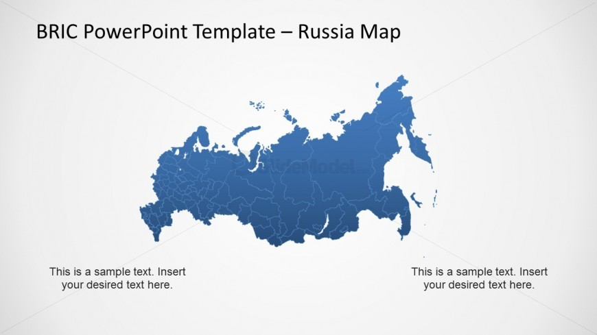 Editable Russia Map Template for PowerPoint