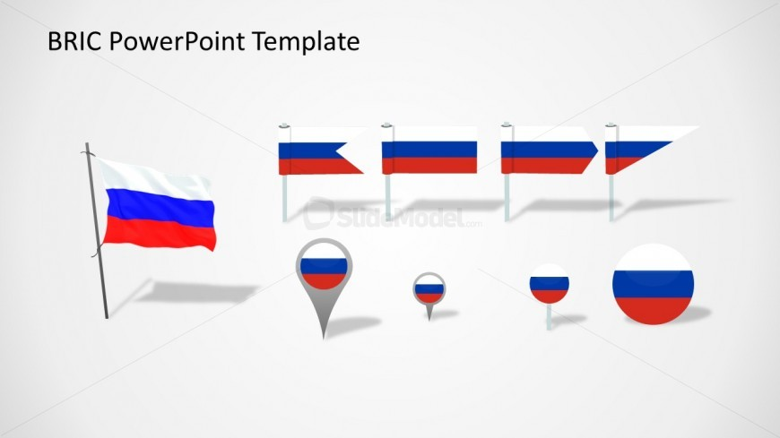 Russia flag slide for powerpoint slidemodel flag of russia in a slide design ready to be used in powerpoint presentations on bric countries this slide design contains useful shapes in powerpoint that toneelgroepblik Images