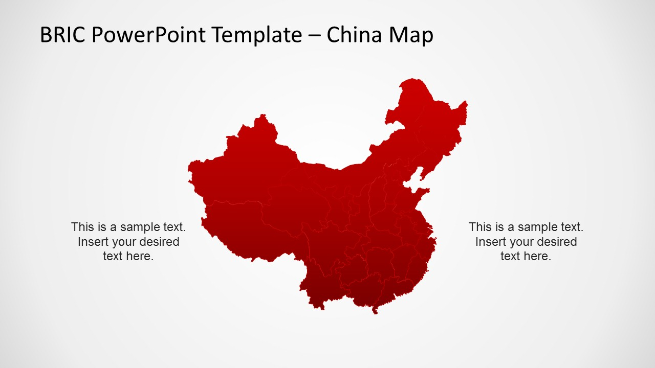 China Map Slide Design for PowerPoint