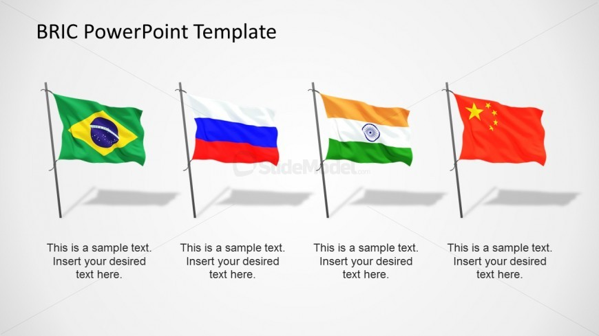 Bric Flags Powerpoint Template Slidemodel