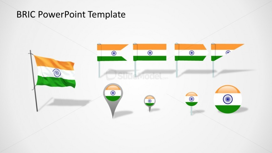 India Flags Slide for PowerPoint