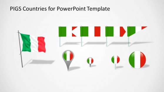Italy Flags and Icons for PowerPoint