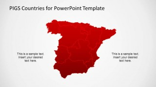 Spain Political Map with State Borders for PowerPoint