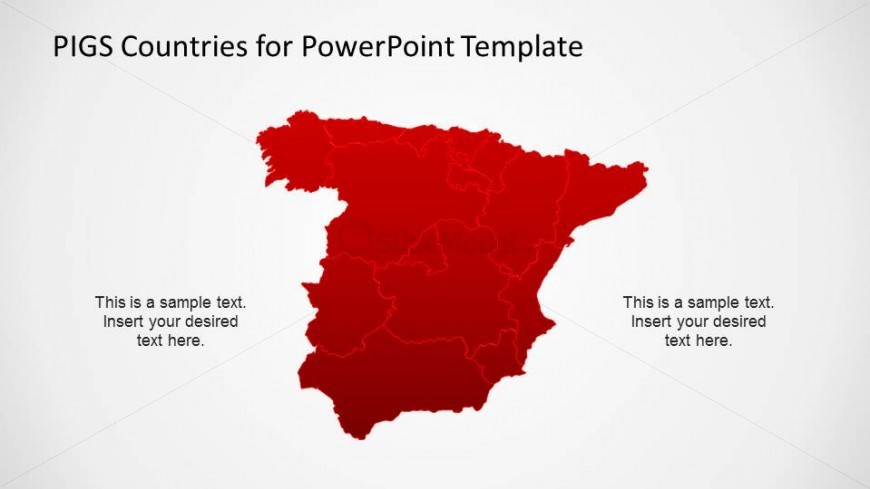 Spain Map With States Borders Slidemodel