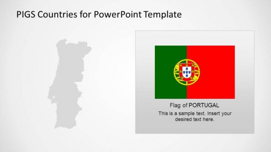 Portugal Outline Map and National Flag