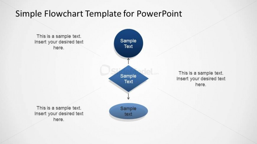 Three Levels Simple Flowchart For Powerpoint Slidemodel