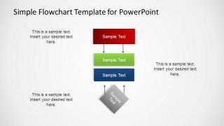 Simple vertical PowerPoint flowchart