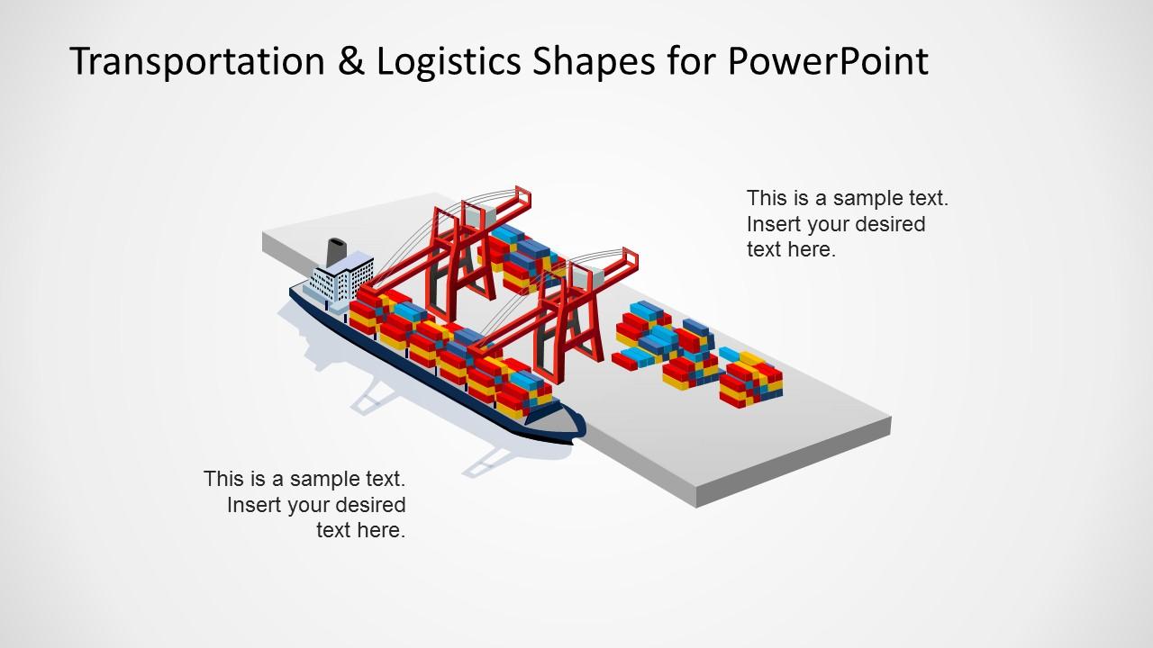 Port Logistics Maritime Slide Design for PowerPoint