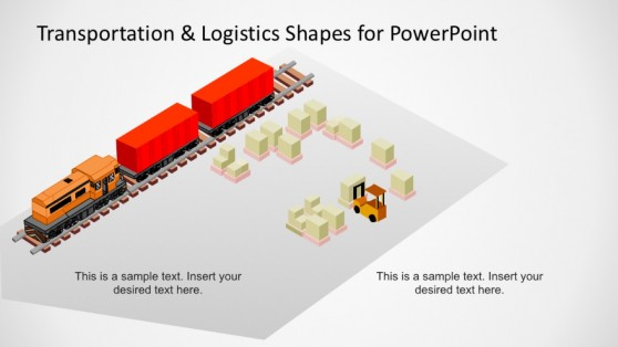 PowerPoint Template Isometric Train Intermodal