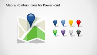 Map & Pointer Icons Slide Design for PowerPoint
