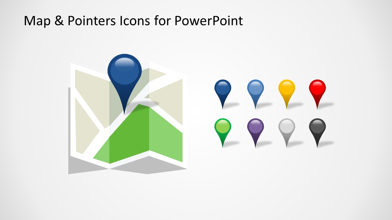 Free Google Maps Pointer Icon: Editable Map & Pointers Icons For PowerPoint