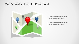 Map & Pointer Icons for PowerPoint in a Presentation Slide