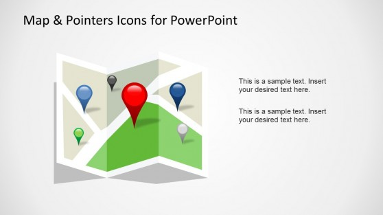 Map & Pointer Icons for PowerPoint