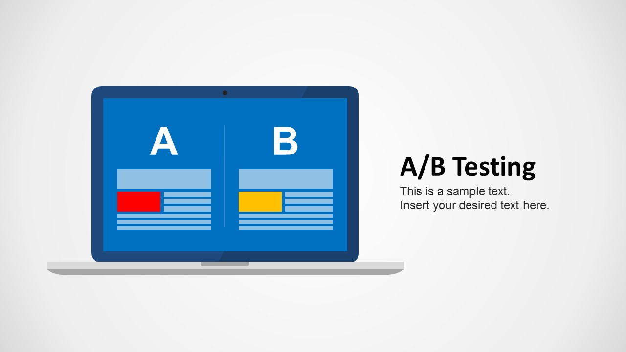 A/B Testing Slide Design Monitor Illustration