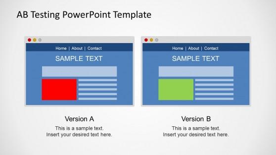 A/B Testing Browser Slide Design