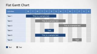 Flat Gantt Chart for PowerPoint - 2 Weeks