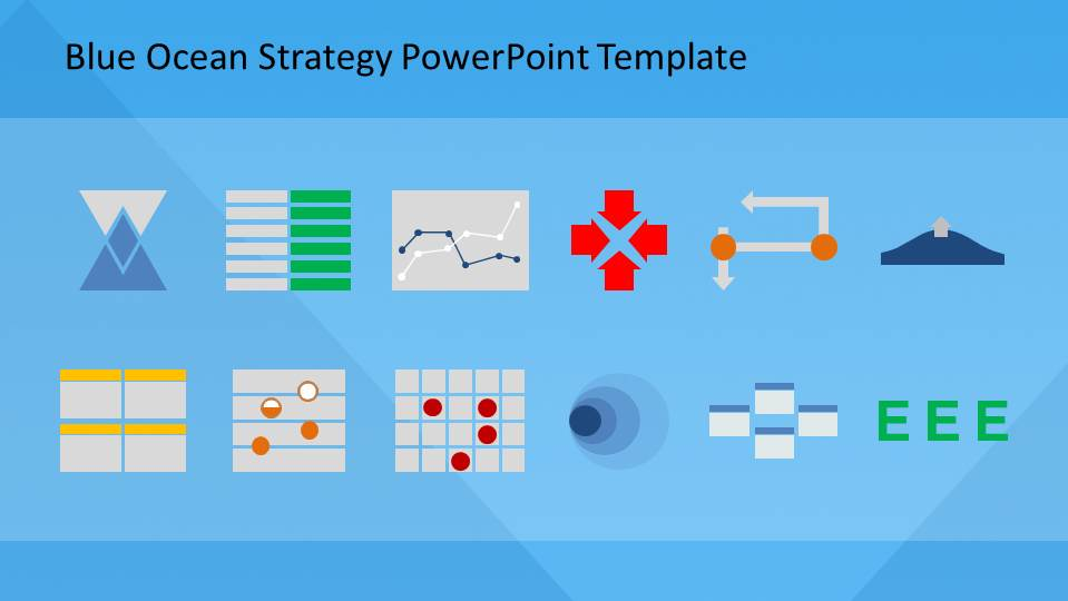 Blue Ocean Strategy Theory and Tools PowerPoint Diagrams