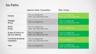 Blue Ocean Strategy Six Path Framework Tool