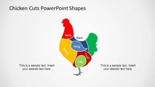 PowerPoint Chicken Shape Composed of Meat Cuts