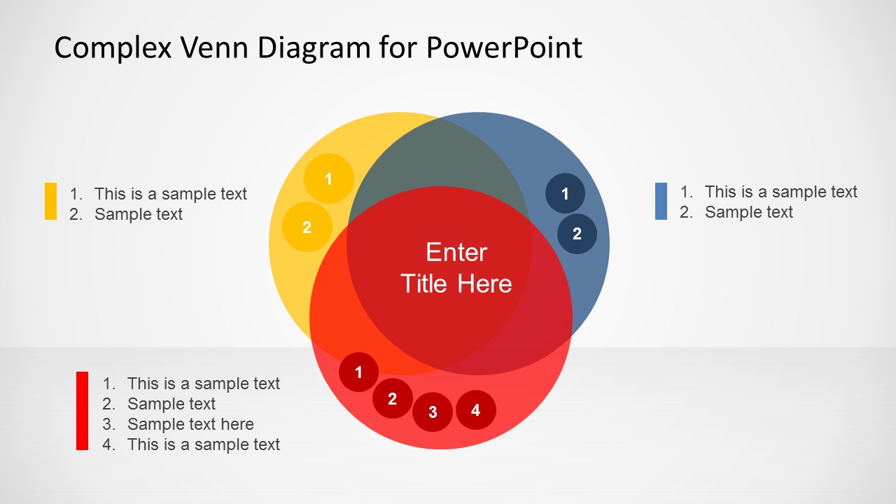 complex venn diagram design for powerpoint   slidemodelcomplex venn diagram ppt slide