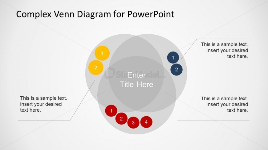 Overlapping Sets Venn Diagram For Powerpoint Slidemodel