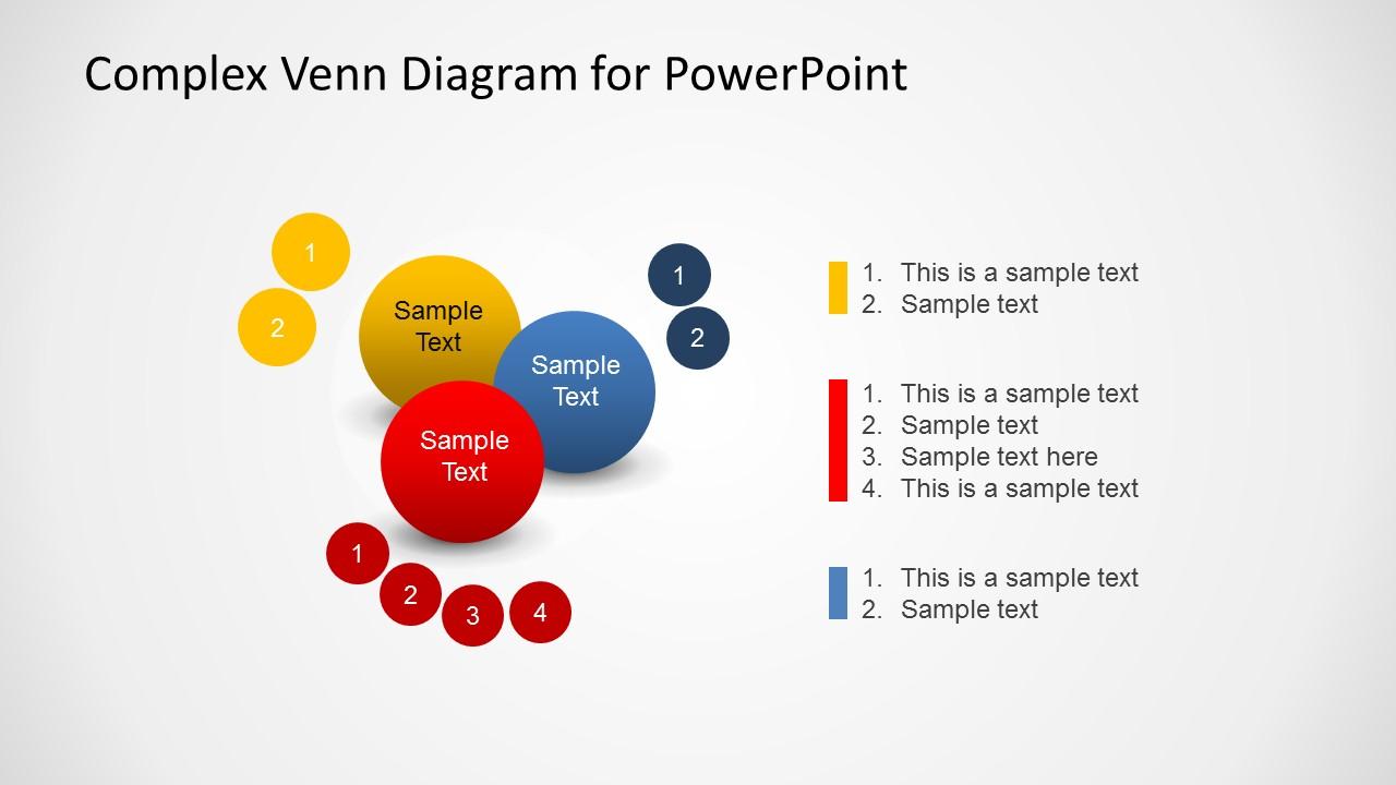 Complex venn diagram design for powerpoint slidemodel ccuart Choice Image
