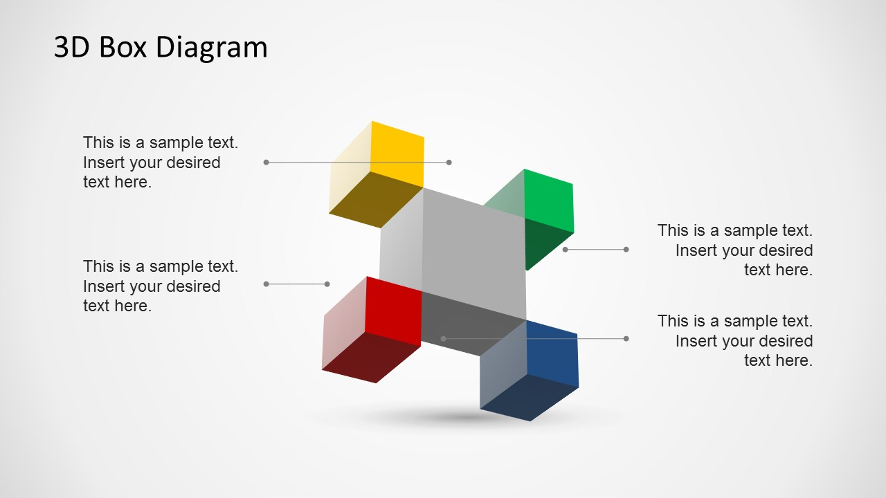 Creative 3D Box Diagram Template for PowerPoint