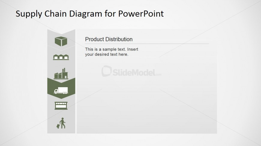 PowerPoint Distribution Icon Supply Chain