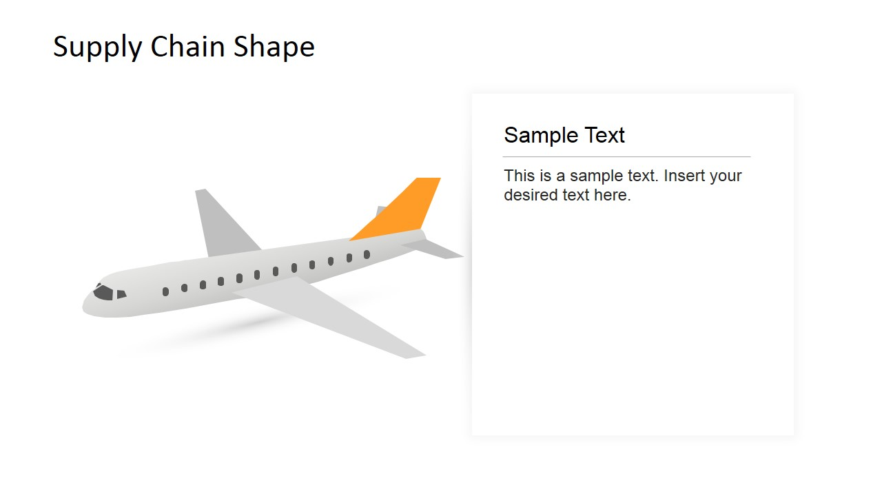 Plane Clipart Powerpoint 3d Shape Slidemodel Diagram Of An Airplane