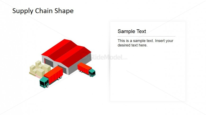 PowerPoint Shapes of Trucks and Warehouse