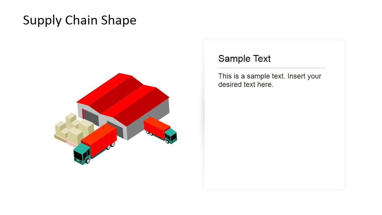 3D Supply Chain Clipart PowerPoint Diagram
