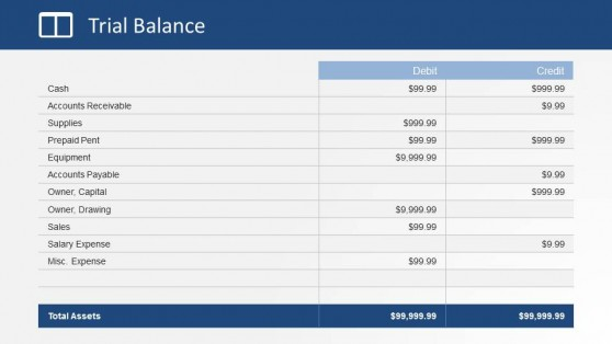 Trial Balance Financial Statement