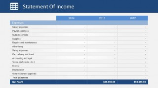Expenses Section of Income Statement Slide