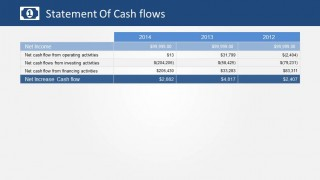 Cash flow statement summary of Net Increase/Decrease of Activities