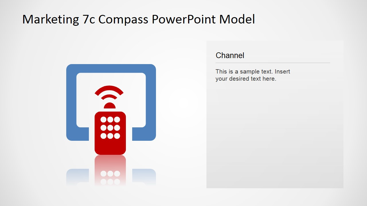 PowerPoint Icon Channel Slide 7Cs Compass Model