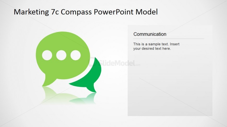 PowerPoint Communication Icon Slide Design 7Cs Model