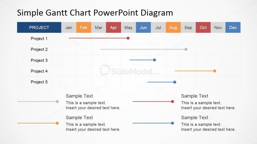 Gantt Chart Template For Powerpoint Slidemodel